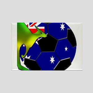 Australia Soccer Rectangle Magnet