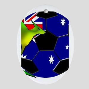 Australia Soccer Ornament (Oval)