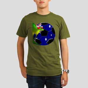 Australia Soccer Organic Men's T-Shirt (dark)