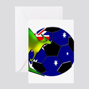 Australia Soccer Greeting Card