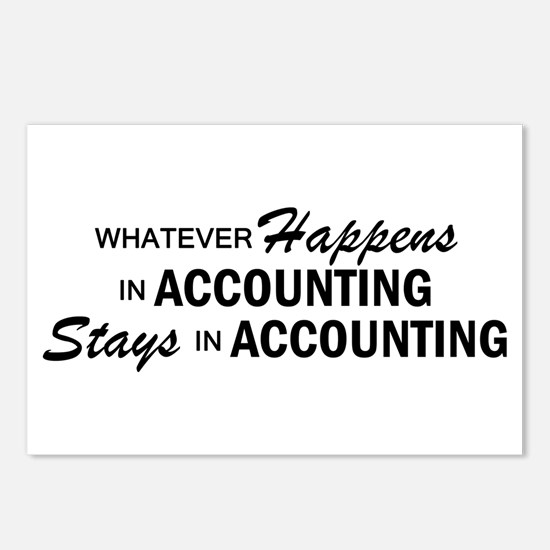 Whatever Happens - Accounting Postcards (Package o