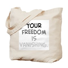 freedom vanishing Tote Bag