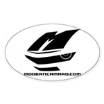 Icon Logo Oval Sticker (10 Pack)