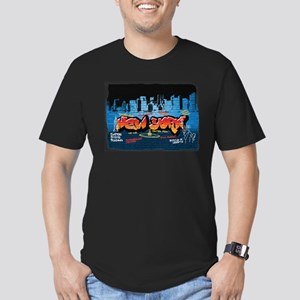 New York Grafitti Men's Fitted T-Shirt (dark)