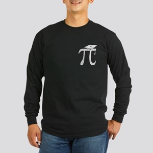 Math Pi Graduate Long Sleeve Dark T-Shirt