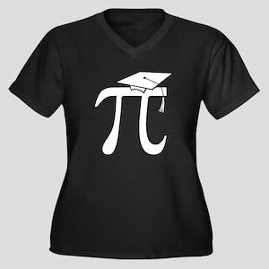 Math Pi Graduate Women's Plus Size V-Neck Dark T-S