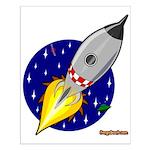 Blast Off! Rocketship Small Poster