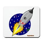 Blast Off! Rocketship Mousepad