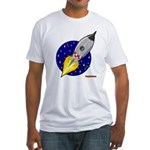 Blast Off! Rocketship Fitted T-Shirt
