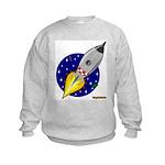 Blast Off! Rocketship Kids Sweatshirt