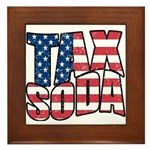 Tax Soda! Framed Tile