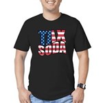 Tax Soda! Men's Fitted T-Shirt (dark)