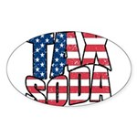 Tax Soda! Sticker (Oval)