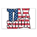 Tax Soda! Sticker (Rectangle 10 pk)