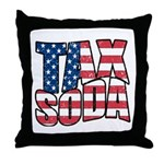 Tax Soda! Throw Pillow