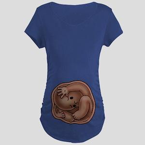Cwowded Womb Maternity Dark T-Shirt