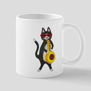 Cat and Saxophone Mug