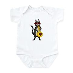 Cat and Saxophone Infant Bodysuit