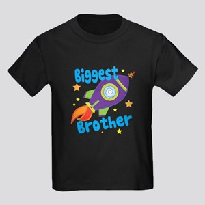 Biggest Brother Rocket Kids Dark T-Shirt