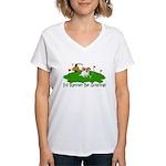 JRT The Pro Golfer Women's V-Neck T-Shirt