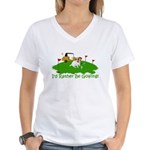 JRT The Pro Golfer Women's V-Neck T-Shirt