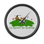 JRT The Pro Golfer Large Wall Clock