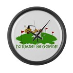 JRT The Pro Golfer Large Wall Clock