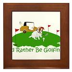 JRT The Pro Golfer Framed Tile