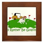 JRT The Pro Golfer Framed Tile