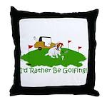 JRT The Pro Golfer Throw Pillow