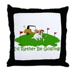 JRT The Pro Golfer Throw Pillow
