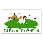JRT The Pro Golfer Sticker (Rectangle)
