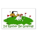 JRT The Pro Golfer Sticker (Rectangle)
