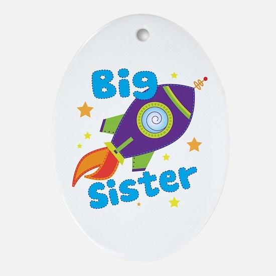 Big Sister Rocket Ornament (Oval)