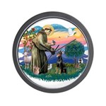 St Francis #2/ Dobie (cropped) Wall Clock