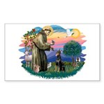 St Francis #2/ Dobie (cropped) Sticker (Rectangle