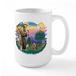 St Francis #2/ Yorkie #7 Large Mug