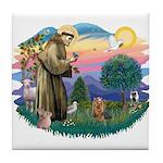 St Francis #2/ Yorkie #7 Tile Coaster