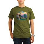 St Francis #2/ Yorkie #7 Organic Men's T-Shirt (da