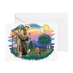 St Francis #2/ Yorkie #7 Greeting Card