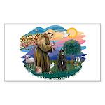 St Francis #2/ Bouvier Sticker (Rectangle)
