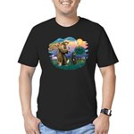 St Francis #2/ Bouvier Men's Fitted T-Shirt (dark)