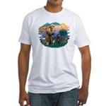 St Francis #2/ Bouvier Fitted T-Shirt