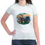 St Francis #2/ Bouvier Jr. Ringer T-Shirt