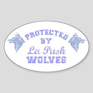 twilight La Push Wolves blue Sticker (Oval)