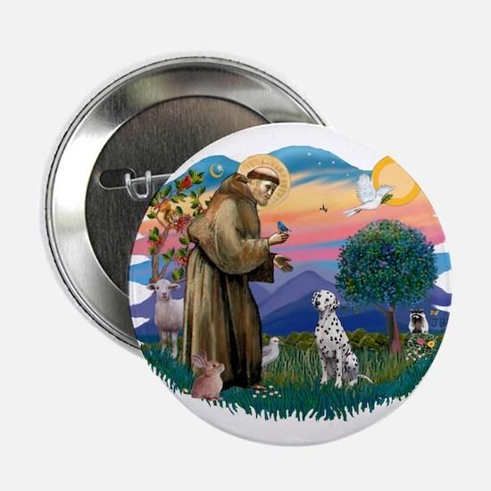 "St Francis #2/ Dalmatian 2.25"" Button"