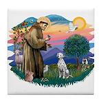 St Francis #2/ Dalmatian Tile Coaster