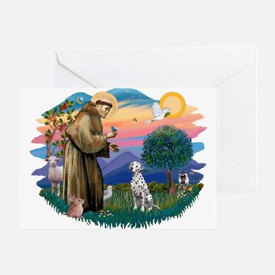St Francis #2/ Dalmatian Greeting Card