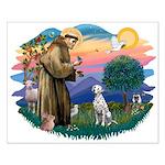 St Francis #2/ Dalmatian Small Poster