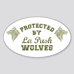 twilight La Push Wolves armygreen Sticker (Oval)